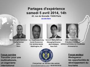 Partage d'expérience de 4 anciens de Saint-Michel Amparibe, tous experts reconnus dans leurs domaines respectifs